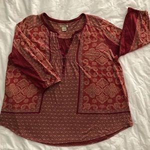 Lucky Brand 3/4 Sleeve Top